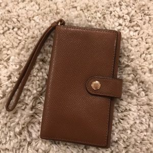 Brown leather Coach wallet/ card holder